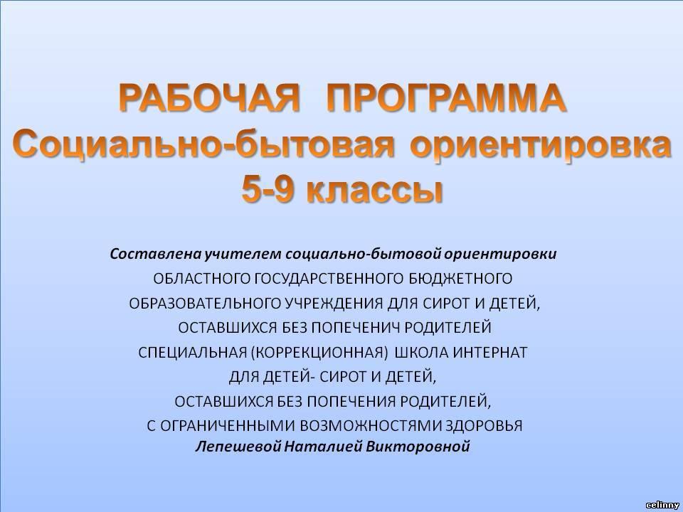Программы Специальных Коррекционных Образовательных Учреждений Viii Вида 5 9 Классы Сборник 2